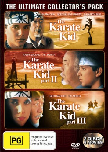 The Karate Kid / The Karate Kid 2 / The Karate Kid 3 DVD Region 4 NEW
