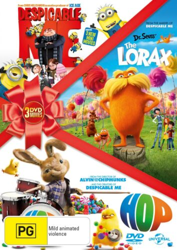 Hop / Despicable Me / The Lorax DVD Region 4 NEW