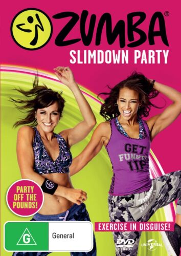 Zumba Slimdown Party DVD Region 4 NEW