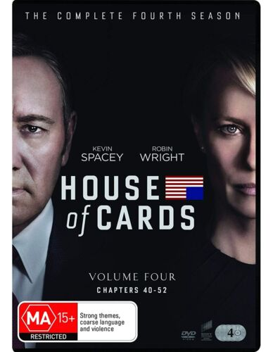 House of Cards The Complete Fourth Season 4 DVD Region 4 NEW