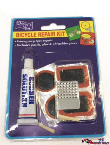 Pack of Tyre Bicycle Repair Kit Patch Rubber Solution Glue Bicycle KD01115