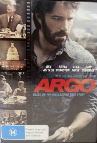 Argo DVD Based on a True Story Oscar Winner Thriller Region 4 PAL 4, Drama L NEW