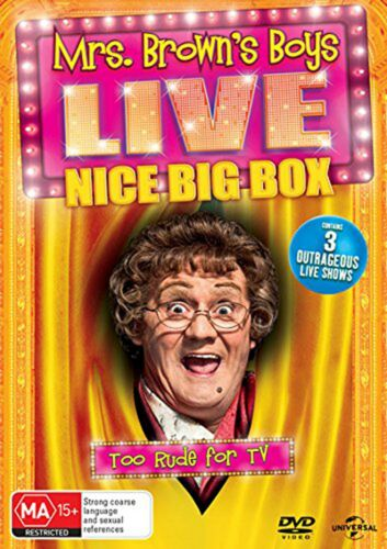 Mrs Browns Boys Live Nice Big Box Box Set DVD Region 4 NEW