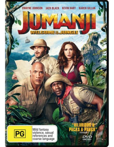 Jumanji Welcome to the Jungle DVD Region 4 NEW