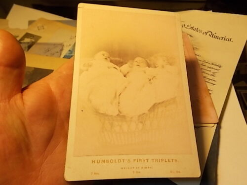 VICT CABINET PHOTO FIRST BIRTH OF TRIPLETS, FORTUNA, HUMBOLDT COUNTY CALIFORNIA
