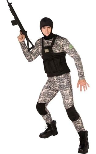 ADULT MENS NAVY SEAL MILITARY UNIFORM FANCY DRESS HALLOWEEN COSTUME