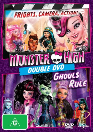 Monster High Frights Camera Action / Monster High Ghouls Rule DVD Region 4 NEW