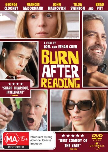 Burn After Reading DVD Region 4 NEW