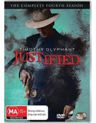 Justified The Complete Fourth Season 4 Series Four DVD Region 4 NEW
