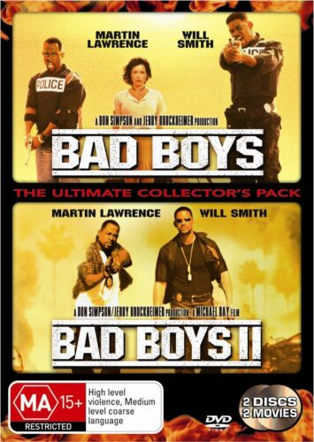 Bad Boys I II DVD Region 4 NEW