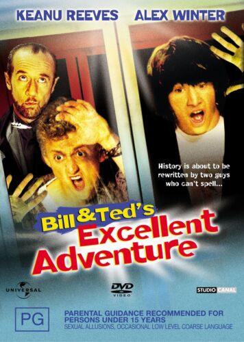 Bill and Teds Excellent Adventure DVD Region 4 NEW
