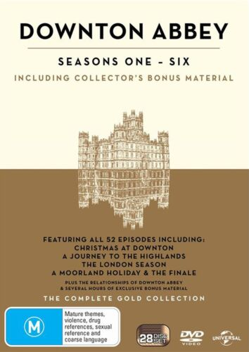 Downton Abbey The Complete Collection Box Set DVD Region 4 NEW