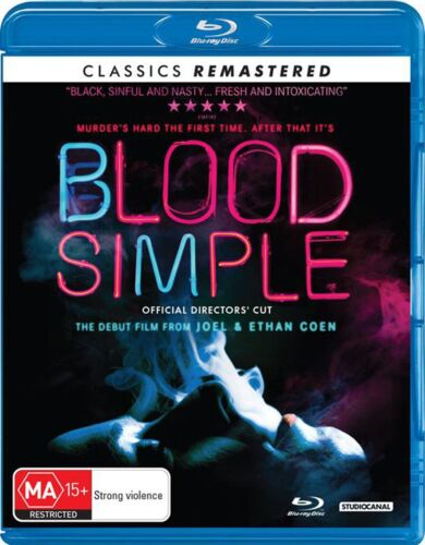 Blood Simple Blu-ray Region B NEW