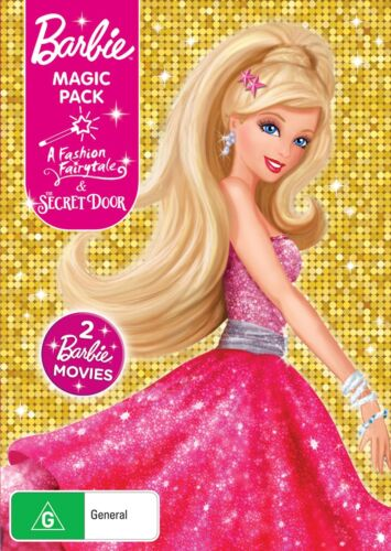 Barbie in a Fashion Fairytale / Barbie and the Secret Door DVD Region 4 NEW