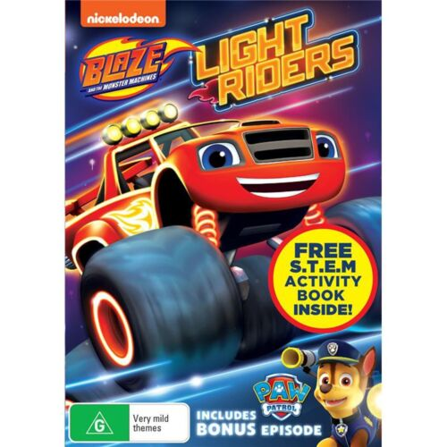 Blaze and the Monster Machines Light Riders DVD Region 4 NEW