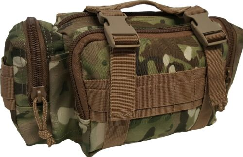 TACTICAL MULTICAM DEPLOYMENT BUM BAG MOLLE 900D DOUBLE PU WATERPROOF COAT ARMYModern, Current - 36066