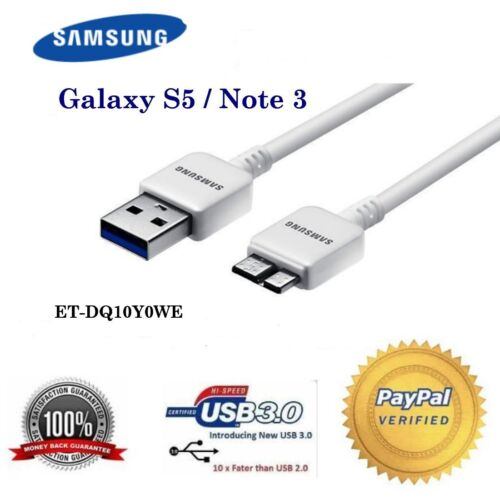 SAMSUNG original USB 3.0 data charging and SYNC cable for Galaxy S5 and Note 3