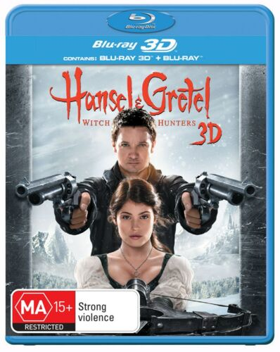Hansel and Gretel Witch Hunters 3D Edition with 2D Edition Blu-ray Region B NEW