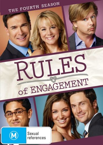 Rules of Engagement The Fourth Season 4 Series Four DVD Region 4 NEW