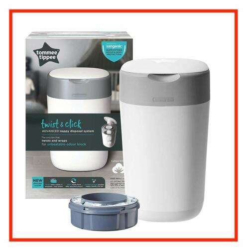Tommee Tippee Sangenic Nappy Twist and Click Bin Disposal System Refill Cassette