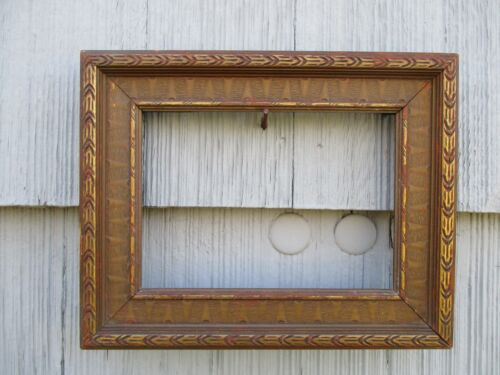 NICE Small Antique Art Nouveau era Wood Picture Frame for Painting fits 5 x 7