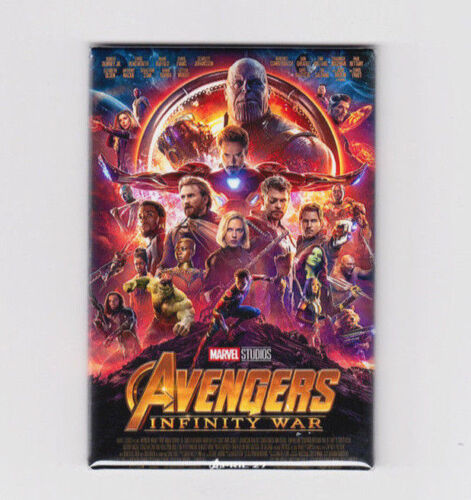 """AVENGERS INFINITY WAR / OFFICIAL - 2""""x3"""" MOVIE POSTER MAGNET (black panther gotg"""