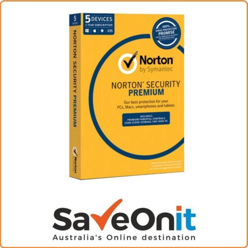 Norton Symantec Security Premium 5 Device PC 1 Year Email license key