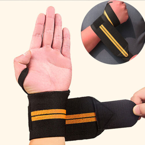 Weight Wrist Wraps Weight Lifting Training Gym Straps Support Grip Gloves