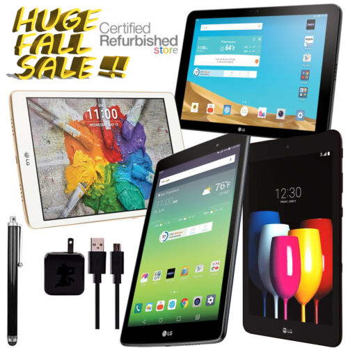 LG G Pad X & X2 Plus (BUNDLE!) • 16/32GB, Black/Gold • Wi-Fi +4G AT&T/T-Mobile