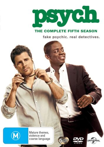 Psych The Complete Fifth Season 5 Series Five DVD Region 4 NEW