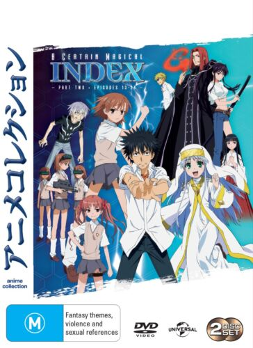 A Certain Magical Index Part 2 DVD Region 4 NEW