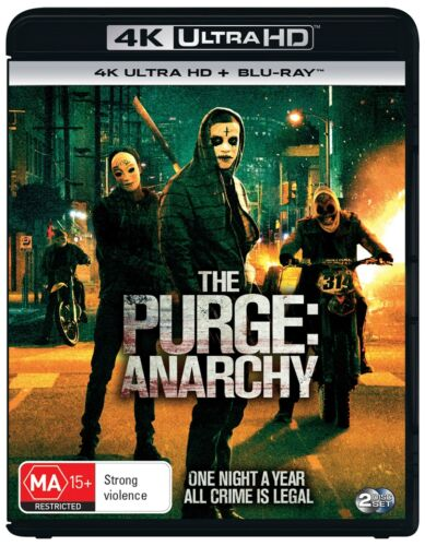 The Purge Anarchy 4K Ultra HD Blu-ray Digital Download UHD Region B NEW