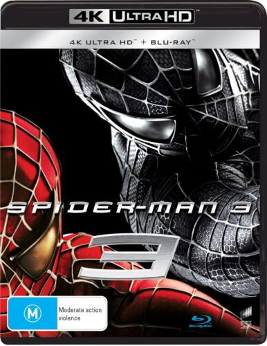 Spider Man 3 4K Ultra HD Blu-ray Digital Download UHD Region B NEW