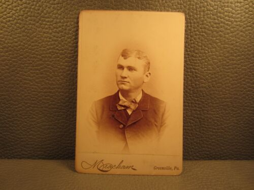 Victorian Antique Cabinet Card Photo of Young Man