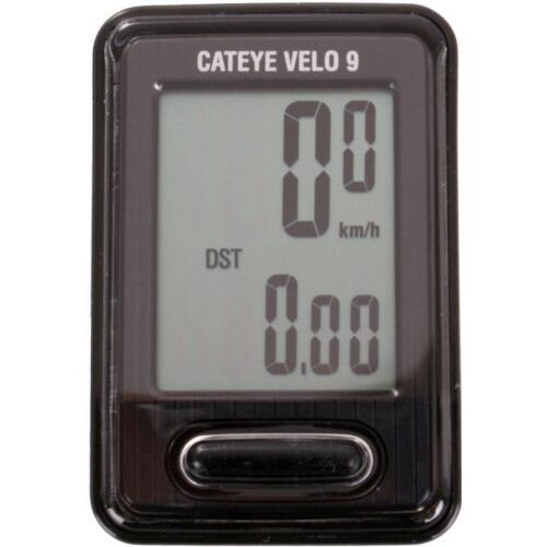CATEYE VELO 9 Function Cycle Computer VL820 Speed Wired Bicycle Bike Cycle BLACK