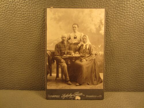Victorian Antique Cabinet Card Photo of a Hungarian Family