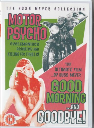 Russ Meyer's Motor Psycho + Good Morning and Goodbye ! Arrow films DVD very good