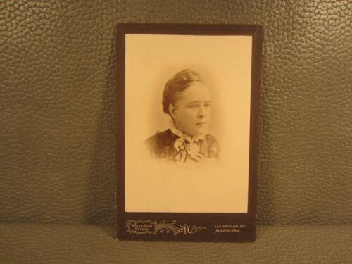 Victorian Antique Cabinet Card Photo of Young Woman ......FREE SHIPPING