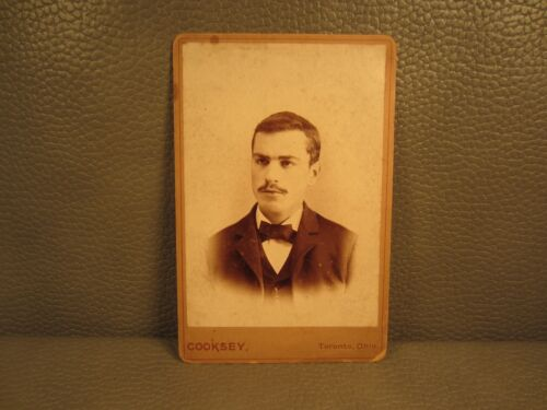 Edwardian Antique Cabinet Card Photo of Young Man ......FREE SHIPPING