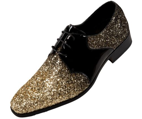Oxford Shoes for Men, Tuxedo Shoes, Two Tone Glitter Formal Shoes for Men