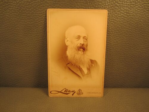 Victorian Antique Cabinet Card Photo of a Older Man