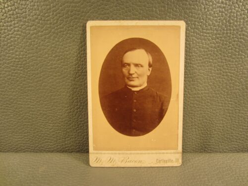 Victorian Antique Cabinet Card Photo of a Catholic Priest ......Young Man