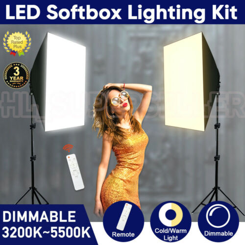 Photo Photography Studio Dimmable LED Softbox Lighting Soft Box Light Stand Kit <br/> 3 modes of lights, Lowest Price for Christmas!!!
