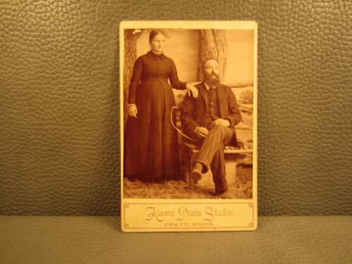 Victorian Antique Cabinet Card Photo of a Married Couple ..... Man and Woman