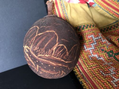 Old Australian Aboriginal Kimberley Carved Boab Nut …beautiful collection piece