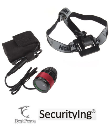SECURITYING - LAMPADA FRONTALE 442 Zoom - LED CREE tipo XM-L T6 - 1200 lumen