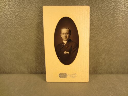 Edwardian Antique Cabinet Card Photo of a Man  ......FREE SHIPPING