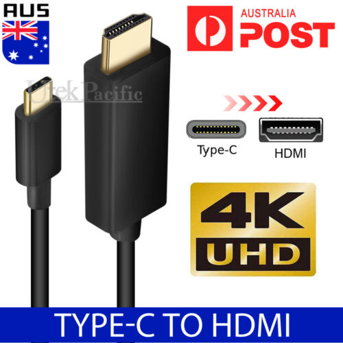 USB C to HDMI Cable USB Type C Male to HDMI Male 4K Cable For Macbook Chromebook