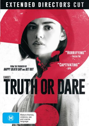 Truth Or Dare Extended Directors Cut DVD Region 4 NEW