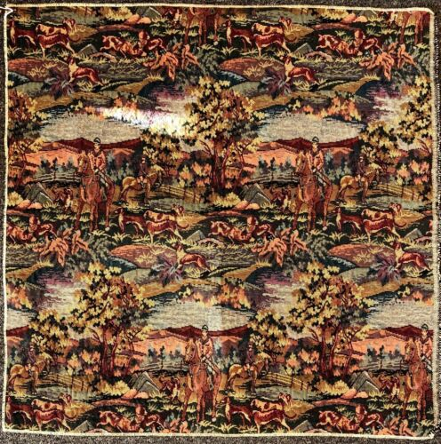 Tapestry - Fox Hounds and Horses - Vintage